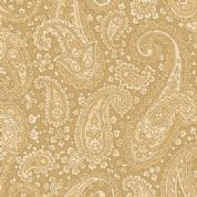 W108806 Extra Wide Cotton Fabric - Henry Glass Tan Paisley
